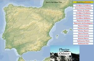 mapa relevo de españa